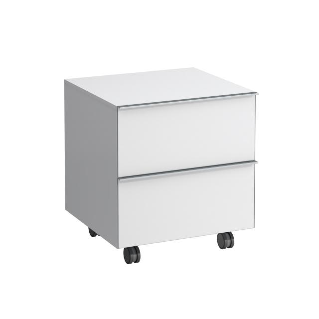 Laufen Space trolley with 2 pull-out compartments front matt white / corpus matt white