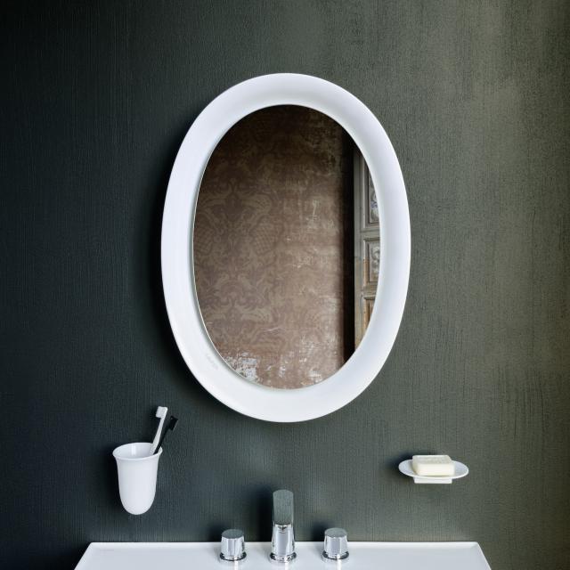 LAUFEN The New Classic LED mirror matt white