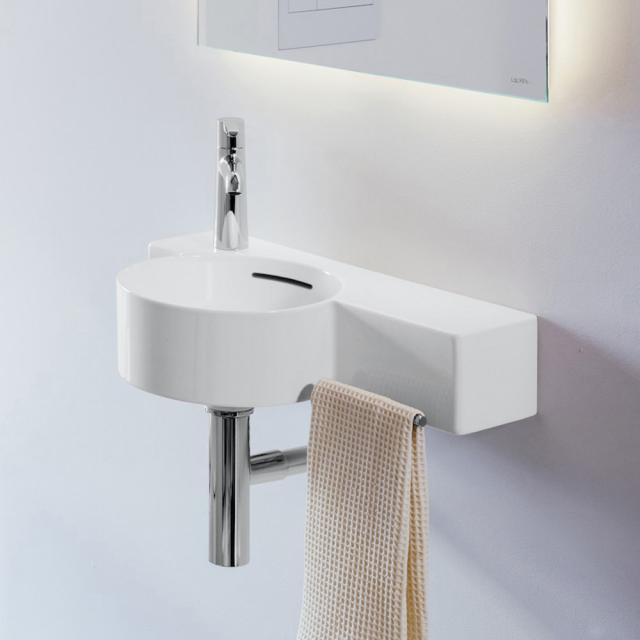 LAUFEN VAL hand washbasin white, with Clean Coat, with 1 tap hole, with overflow