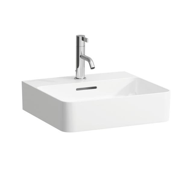 LAUFEN VAL hand washbasin white, with Clean Coat, with 1 tap hole, grounded, with overflow