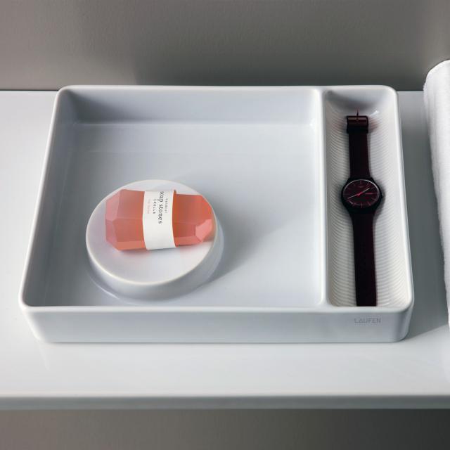 LAUFEN VAL  storage bowl rectangular white