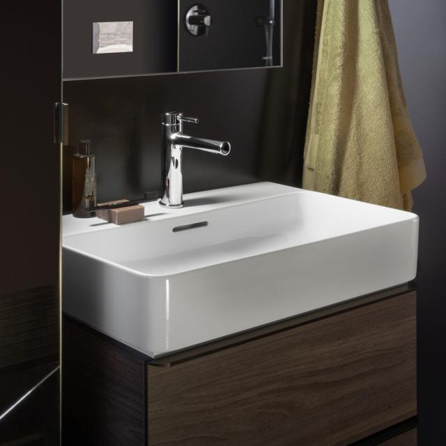 LAUFEN VAL washbasin white, with Clean Coat, with 1 tap hole, ungrounded, with overflow