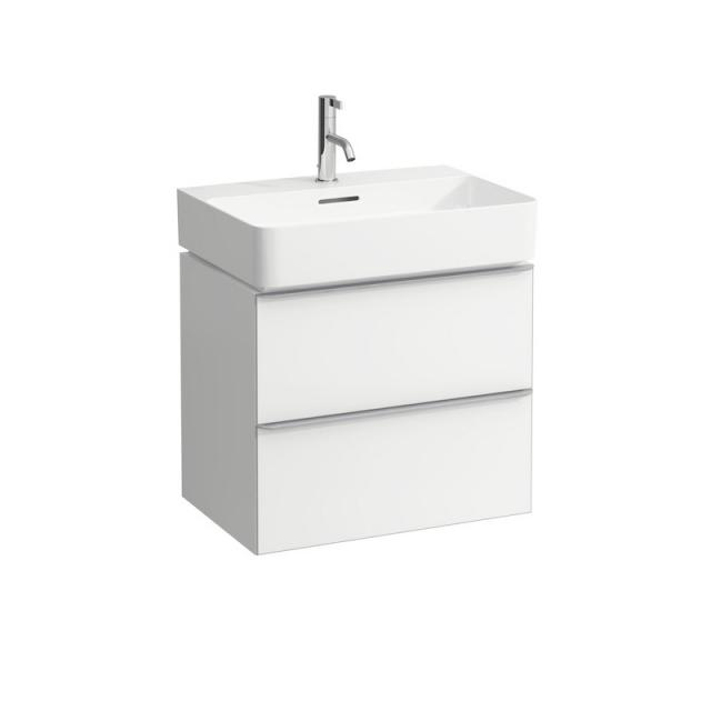 LAUFEN VAL washbasin with Space vanity unit with 2 pull-out compartments front matt white / corpus matt white, WB white, with Clean Coat, with 1 tap hole, with overflow
