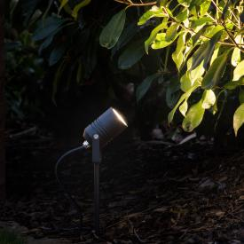 LCD 5018 LED spotlight with ground spike