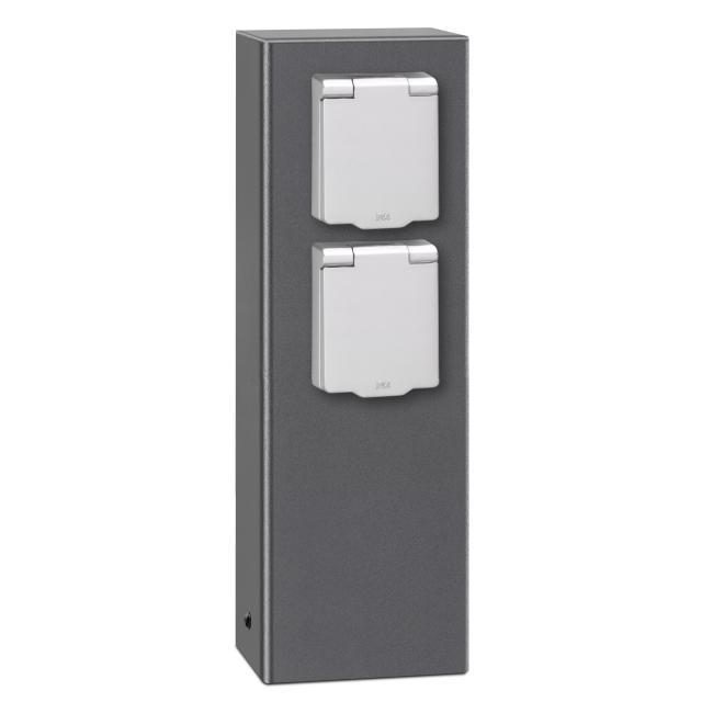 LCD 018 socket pedestal 2 sockets