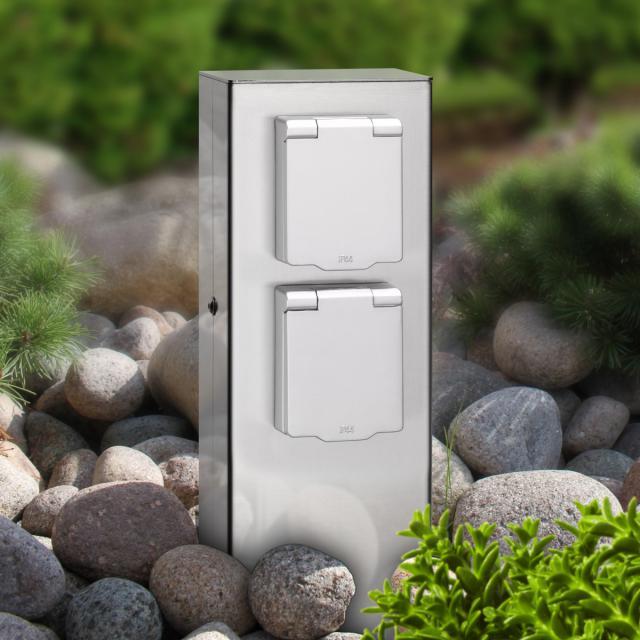 LCD 019 socket pedestal 2 sockets