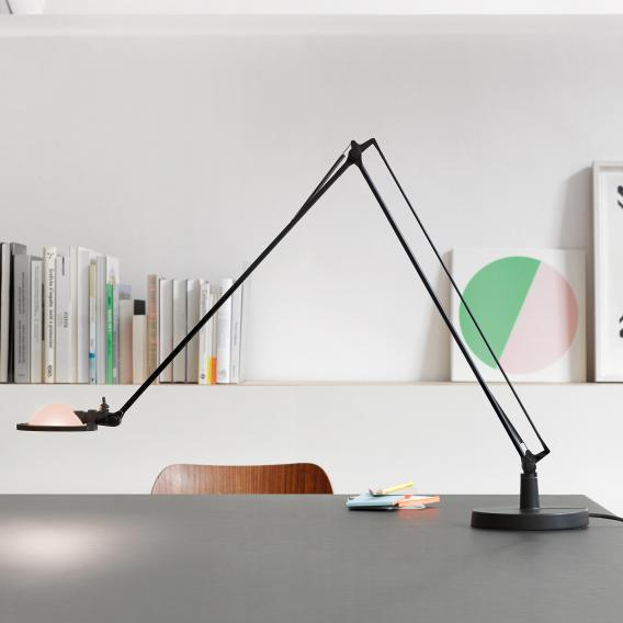 Luceplan Berenice table lamp with base Ø 15 cm and glass reflector