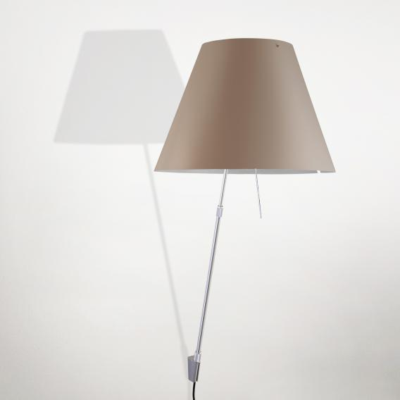 Luceplan Costanza wall light with dimmer and telescopic support