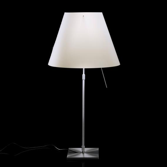 Luceplan Costanza table lamp complete with dimmer, diffusor and telescopic