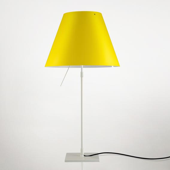 Luceplan Costanza table lamp with dimmer, telescopic