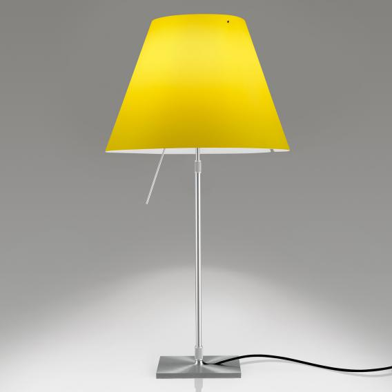 Luceplan Costanza LED table lamp with on/off switch, telescopic, base aluminium