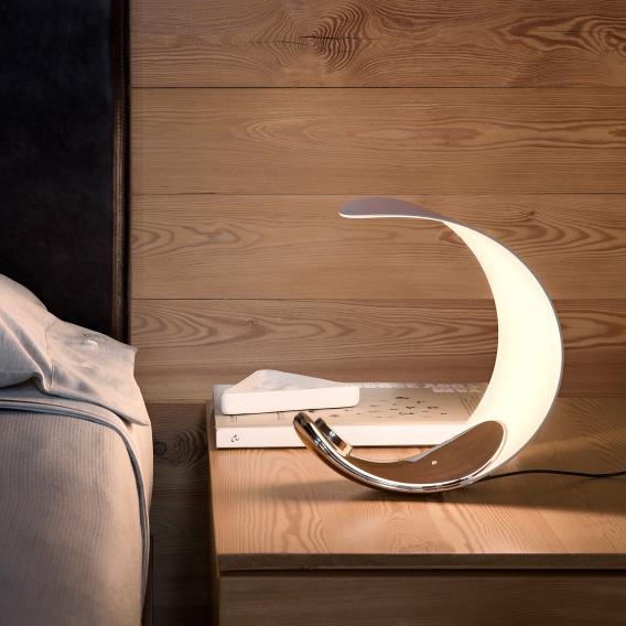 Luceplan Curl D76 LED table lamp with dimmer