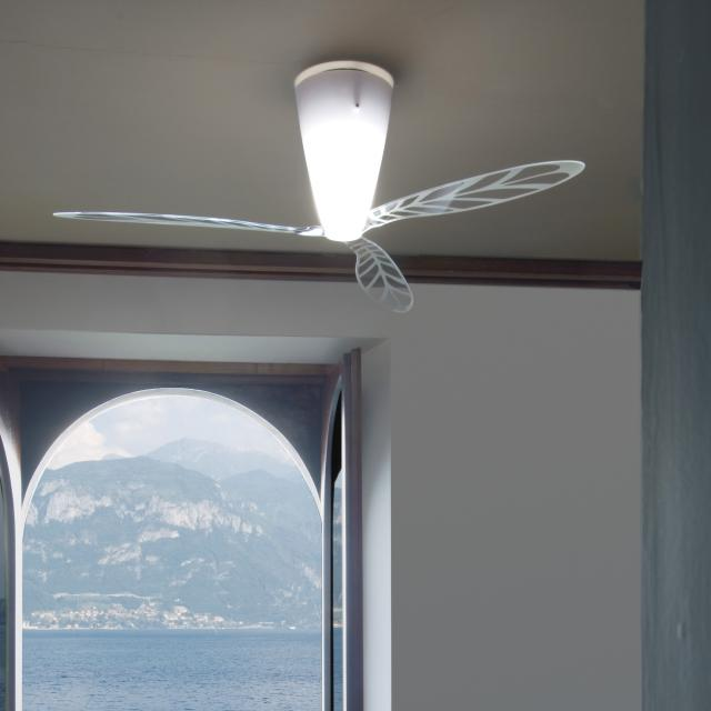 LUCEPLAN Blow D28 ceiling light with ventilator screen printed