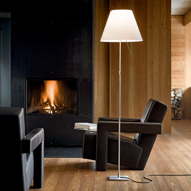 LUCEPLAN Costanza floor lamp with on/off switch, telescopic