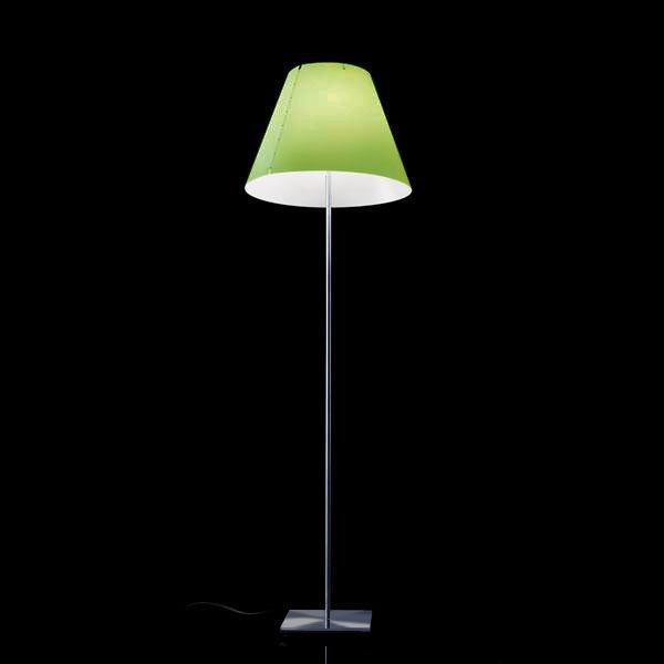LUCEPLAN Grande Costanza Open Air floor lamp with base, aluminium