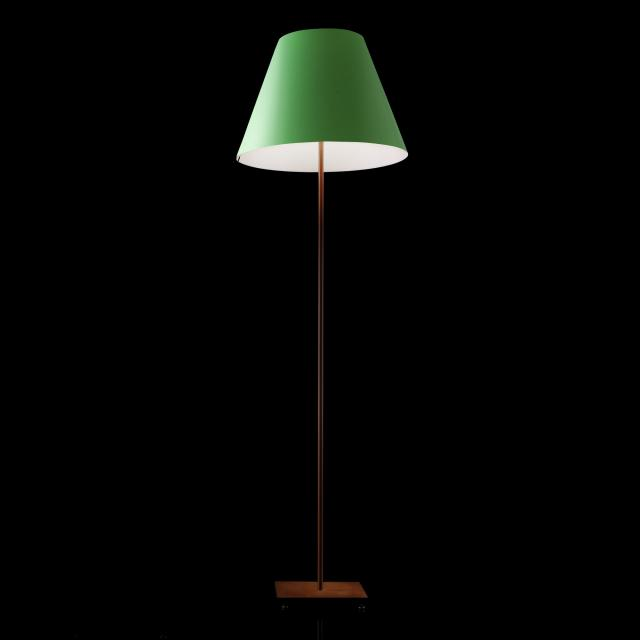 LUCEPLAN Grande Costanza Open Air floor lamp with base, rust