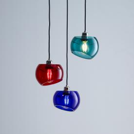 Licht im Raum Glass Moons 3 pendant light