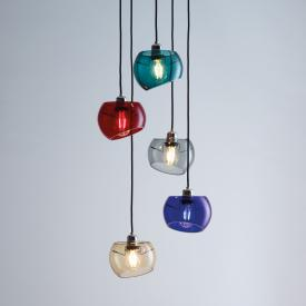 Licht im Raum Glass Moons 5 pendant light