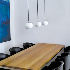 Licht im Raum White Moons 3 pendant light