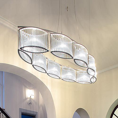 LICHT IM RAUM Stilio Oval 10 pendant light