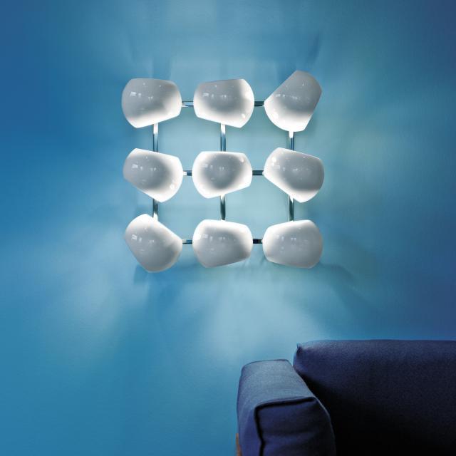 LICHT IM RAUM White Moons 3 x 3 wall light