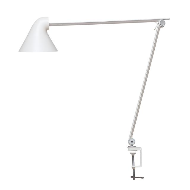Louis Poulsen NJP LED table lamp with clamp and dimmer