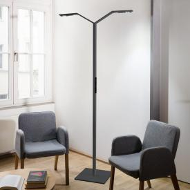 Luctra Floor Twin Linear LED floor lamp