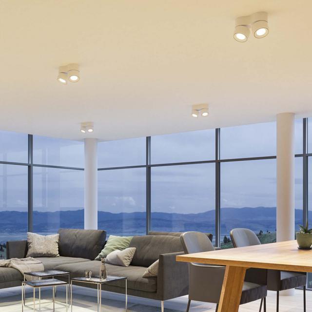 lumexx Easy Double LED ceiling light / spotlight, 2 heads
