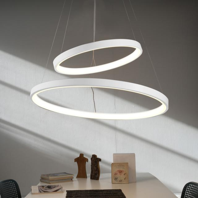 martinelli luce Lunaop LED pendant light with dimmer, 2 heads