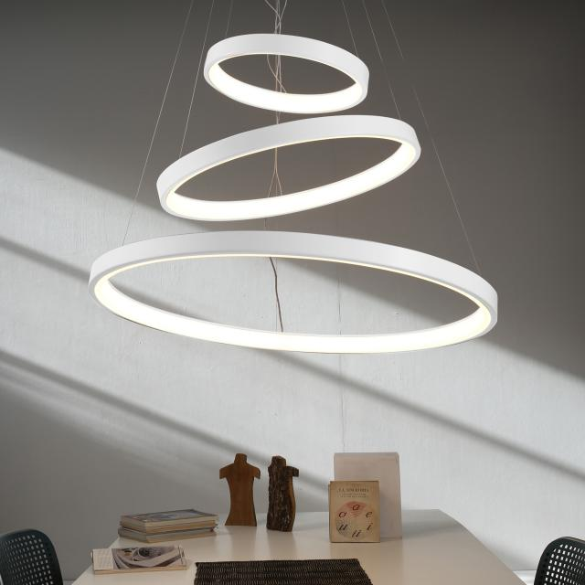 martinelli luce Lunaop LED pendant light with dimmer, 3 heads