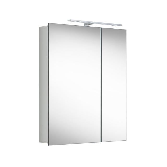 Matedo Entry SPS mirror cabinet with LED lighting with 2 doors, asymmetrical