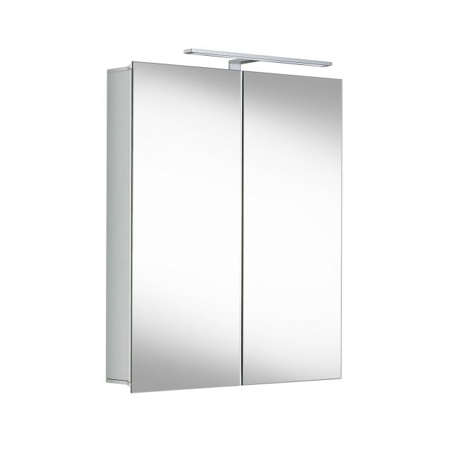 Matedo Entry SPS mirror cabinet with LED lighting with 2 doors