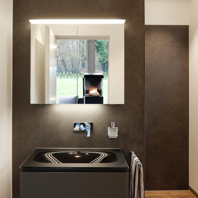 Matedo Next SPS mirror cabinet with LED lighting with 2 doors