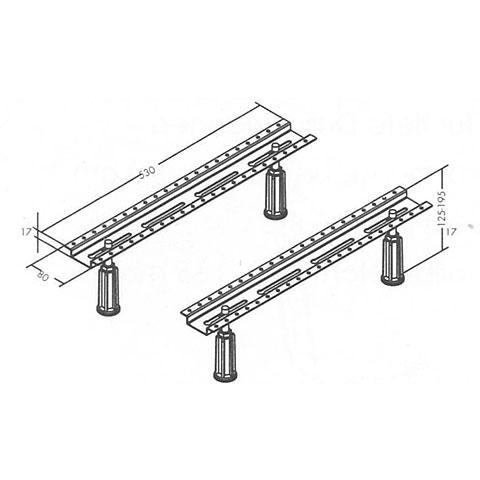 Mauersberger legs for conventional bath, max. bath size 180 x 80 cm, FBA BP4