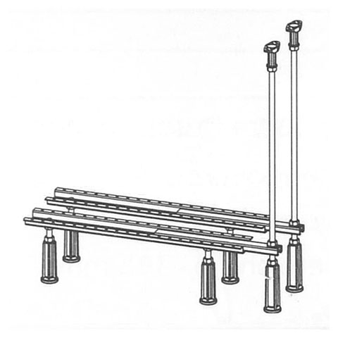 Mauersberger legs for extra wide baths with deck support