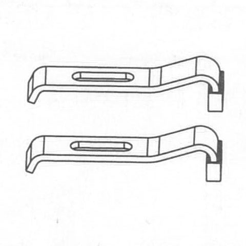 Mauersberger set of two bath anchors
