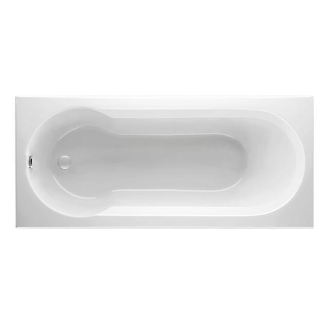 Mauersberger idria rectangular bath with shower zone, built-in white