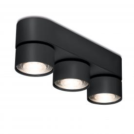 mawa LED surface-mounted spotlights, oval, 3 heads