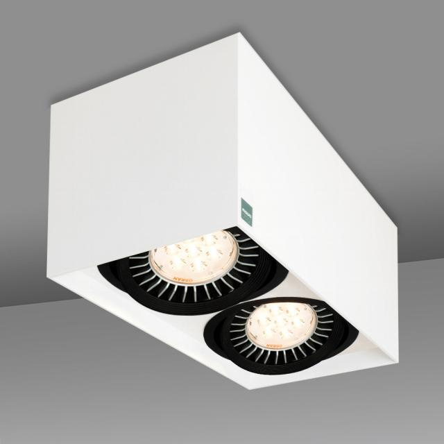 mawa 111er eckig ceiling/wall light, double