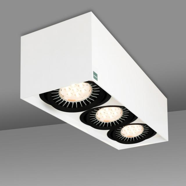 mawa 111er square ceiling/wall light, 3 heads
