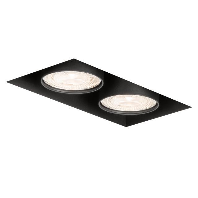 mawa LED recessed spotlight, square, flush, 2 heads