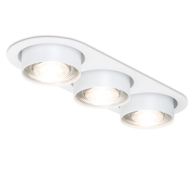 mawa LED recessed spotlight, oval, semi-recessed, 3 heads