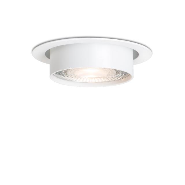 mawa LED recessed spotlight, round, semi-recessed