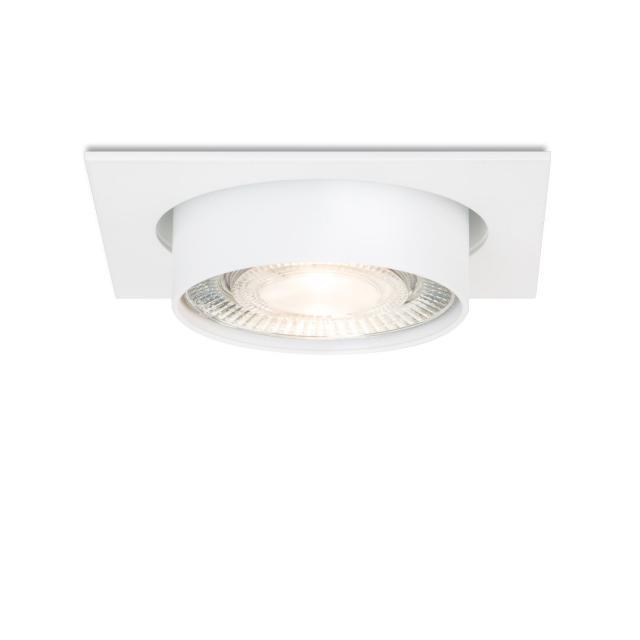 mawa LED recessed spotlight, square, semi-recessed