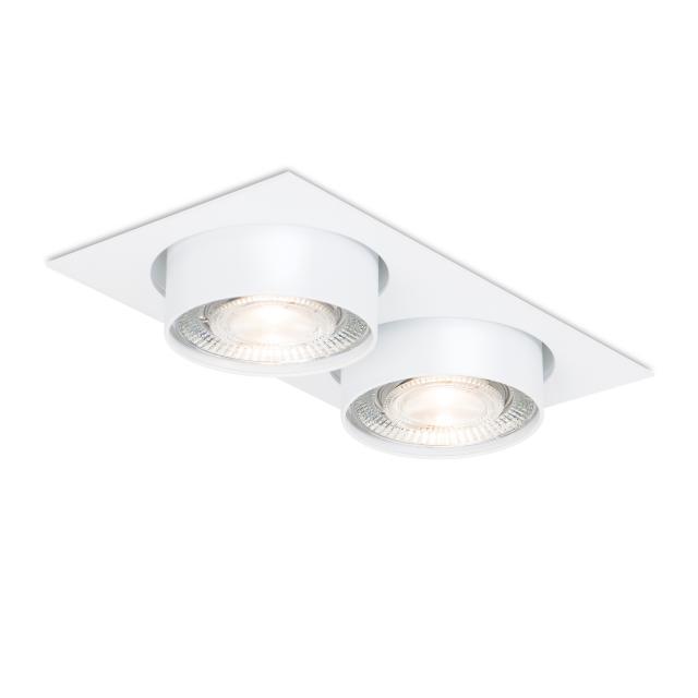 mawa LED recessed spotlight, square, semi-recessed, 2 heads