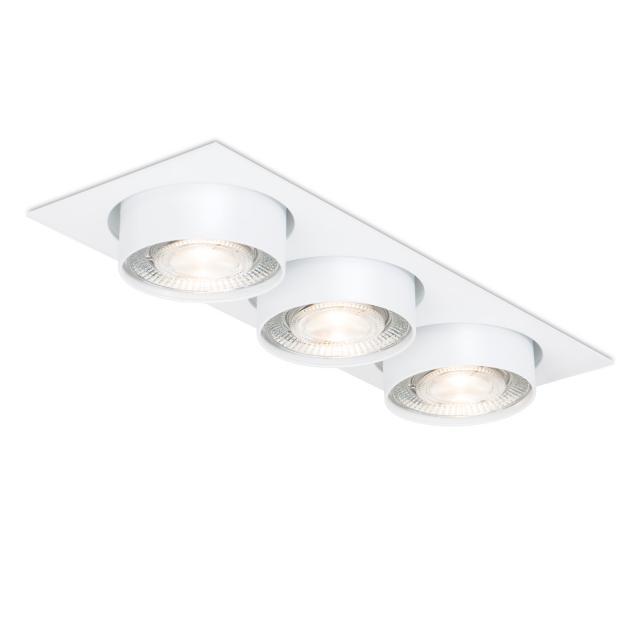 mawa LED recessed spotlight, square, semi-recessed, 3 heads