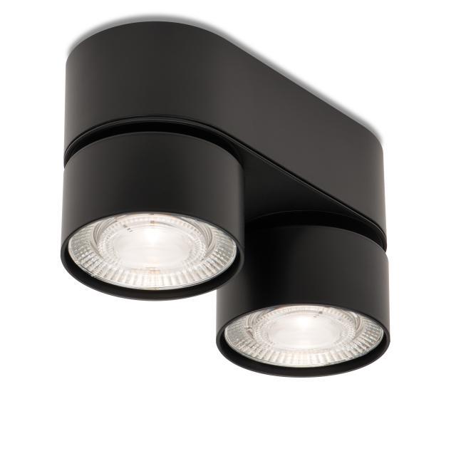 mawa LED surface-mounted spotlights, oval, 2 heads