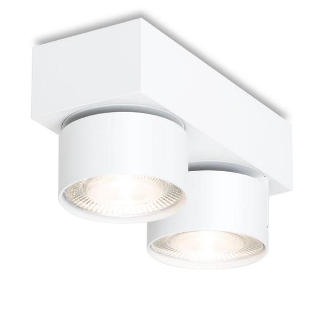 mawa LED surface-mounted spotlights, square, 2 heads