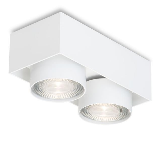 mawa LED surface-mounted spotlights, square, 2 heads, semi-recessed