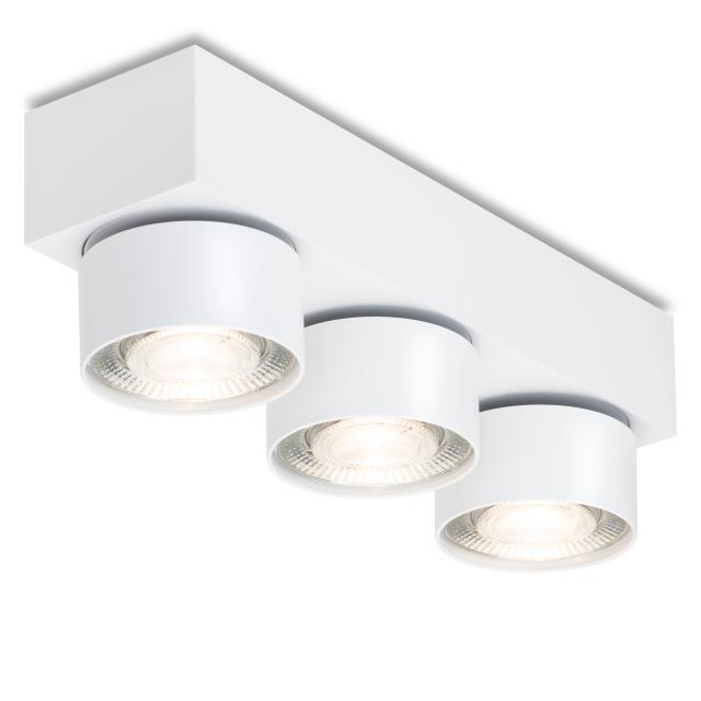 mawa LED surface-mounted spotlights, square, 3 heads